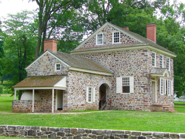 Outside view of Washington's headquarters in Valley Forge.